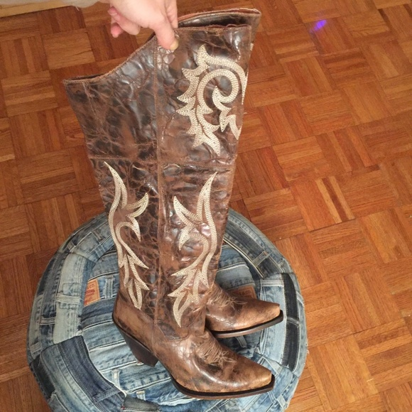 fd19b67188e Dan Post Western Boots Jilted Over The Knee